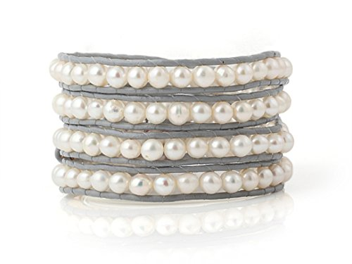 white-freshwater-cultured-pearls-wrap-bracelet-grey-leather-hand-made-multilayer-bangle-5-6-mm