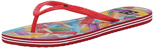 DC Women's Spray Graffik Thong Sandal, Multi 2, 10 M US