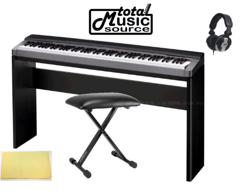 Casio Privia Px150Bk Digital Piano Keyboard, Complete Home Bundle Px150Bl Pack