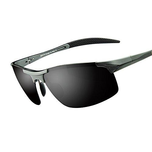 duco herren sport stil polarisierten sonnenbrillen treiber glasses 8177s gunmetal grau. Black Bedroom Furniture Sets. Home Design Ideas