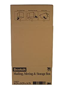 Scotch Folded Box, 14-Inches x 14-Inches x 14-Inches, 6-Pack