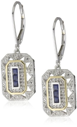 S&G Sterling Silver and 14k Yellow Gold Gemstone