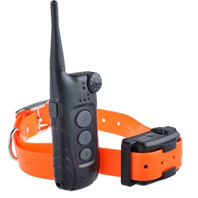 Aetertek At-918 600 Yard Waterproof Remote Control Training Collar Shock Trainer Auto Anti Bark Feature for 1 Dog Rechargeable Collar