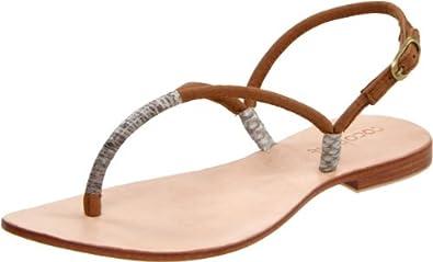 Cocobelle Women's Bico Sandal,Brown,36 EU/6 M US