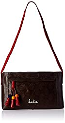 Holii Women's Handbag (Brown and Red)