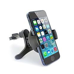 Car Mount, TechMatte ProGrip Vent Universal Car Mount Holder/Cradle (Black) for the Samsung Galaxy S6/S6 Edge, Apple iPhone 6/5S/5C/5/4S/4, Galaxy S5/S4/S3/S2, HTC One, M7, M8, M9
