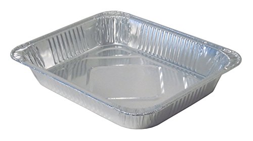 Durable Packaging 4255-100 Aluminum Steam Table Pan, Half-Size, Medium, 2-3/16