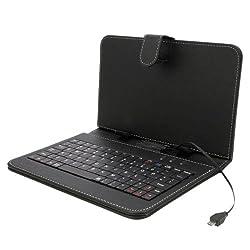 【microUSB】/7インチ専用タブレットキーボード付ケース&サイズ調整機能付 アンドロイドタブレット (microUSB 端子)