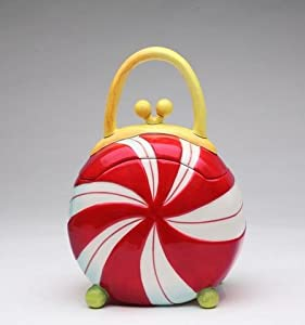 Amazon.com: 8.75 inch Round Peppermint Candy Shaped Purse
