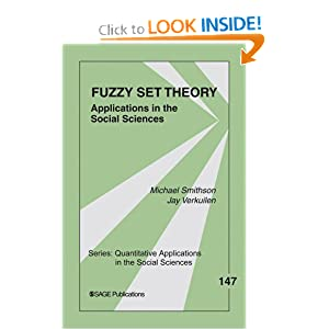 Fuzzy Set Theory: Applications in the Social Sciences (Quantitative Applications in the Social Sciences) [Paperback]