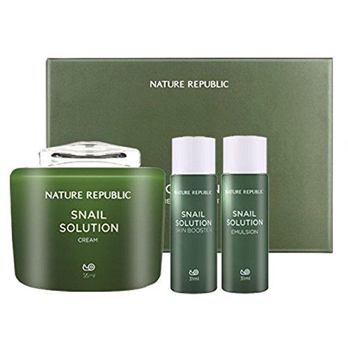 Nature Republic RENEWALED Snail Solution Cream Special Set (Nature Cream compare prices)