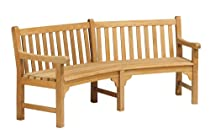 Hot Sale Oxford Garden Essex 83-Inch Curved Shorea Bench