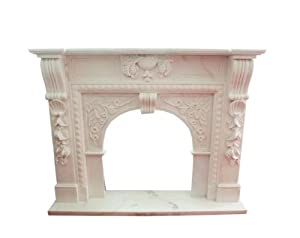 Classicism early days FIREPLACE massive white marble surround 150x120cm D D 11assiv Heb Heb 11 by Luxury-Park