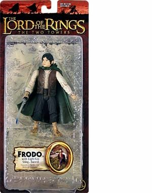 Lord of the Rings Trilogy Edition > Frodo with Light-Up Sting Sword Action Figure