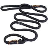 2-TECH Retrieverleine in schwarz Nylon Führleine Retriever Hundeleine 10 mm breit 1,50 cm lang