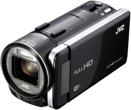 JVC GZ-GX1BEU Full-HD Camcorder (10,6 Megapixel, 8,9 cm (3,5 Zoll) Display, 10-fach opt. Zoom, HDMI, WiFi, USB 2.0) HD-Objektiv GT mit F1.2 schwarz