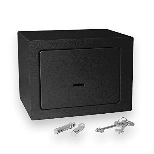 Bonzus® Minicassaforte minicassetta di sicurezza cassaforte mini cassaforte safe cassetta di sicurezza cassaforte a muro cassaforte di sicurezza (nero)