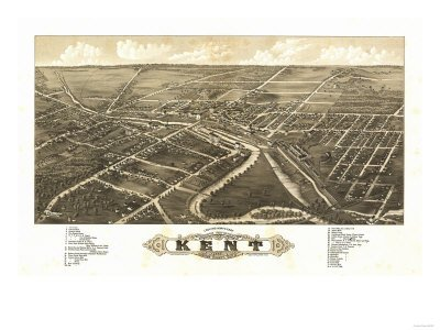 Kent, Ohio - Panoramic Map