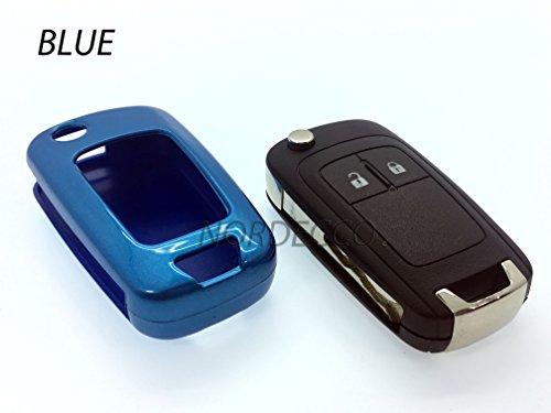 Custodia rigida ABS di alta qualità Key Fob Protector Cover Opel Vauxhall Astra Insignia Sri mervia Mokka Adam VXR Zafira Corsa e 2016(Blu)