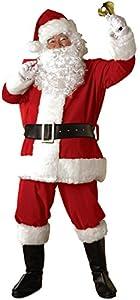 Rubie's Costume Regal Plush Santa Suit, Red/White, X-Large Costume