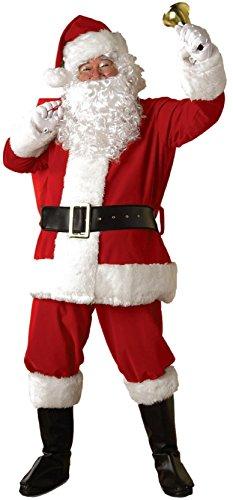 Rubie's Regal Plush Santa Suit, Red/White, X-Large