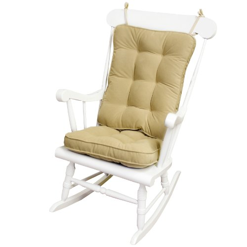 Greendale Home Fashions Standard Rocking Chair Cushion Hyatt fabric, Cream