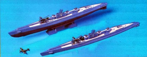 Skywave 1/700 IJN Submarine Type I400 2 Subs and Seaplane Model Kit