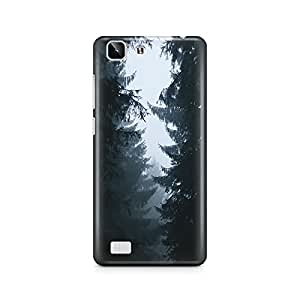 Motivatebox - Black and White Trees Vivo X5 cover- Matte Polycarbonate 3D Hard case Mobile Cell Phone Protective BACK CASE COVER. Hard Shockproof Scratch-Proof Accessories