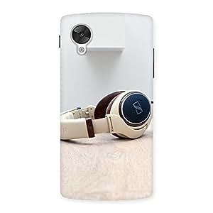 AJAYENTERPRISES White Headphone Back Case Cover for Google Nexsus 5