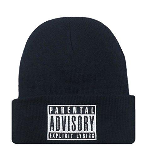 La Vogue-Cappello Uomo Knit Hip-Hop cap in Acrilico Berretto Invernale (Nero)