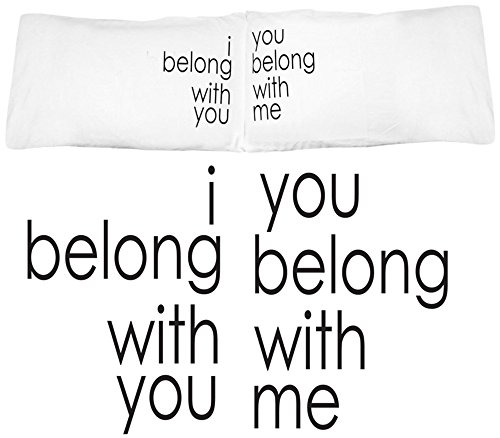 Oh, Susannah I Belong with You, You Belong With Me Couple Pillowcases Wedding Gifts or Anniversary Gifts For Couple, For Her Gifts or Gift for Him. (2 Standard/Queen Pillowcases)