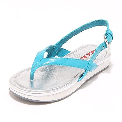 6952G sandalo bimba azzurro PRADA SPORT scarpa ciabatta shoes kids [24]