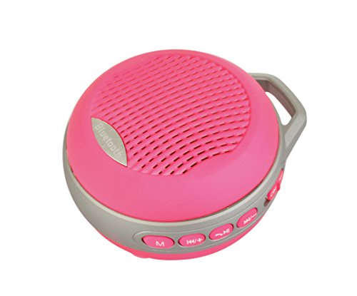 Outdoor Wireless Mini Portable Deep Bass Bluetooth Speaker With Microphone Hands Free Car Charger And Buckle For Apple Iphone Samsung Htc Smart Phones And Tablet Pc - Hot Pink