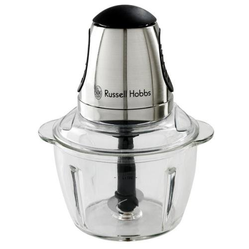 Russell Hobbs, Mini Chopper Glass Brush Chrome 200w by Russell Hobbs