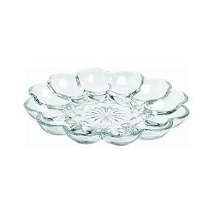 Anchor Hocking 86148 Clear Glass Presense Deviled Egg Plate