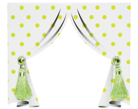 green locker curtain