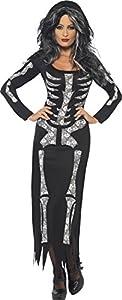 Smiffy's 38873M Skeleton Costume for Women