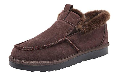Rock Me Men's Ancient I Winter Retro Plush Flat Snow Boot