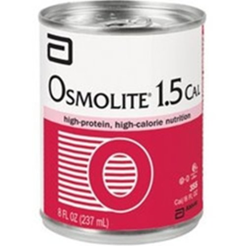 Osmolite 1.5 Cal Unflavored High-Protein, High-Calorie Nutrition 8 oz Cans - Case of 24 (Model 57469) - 1