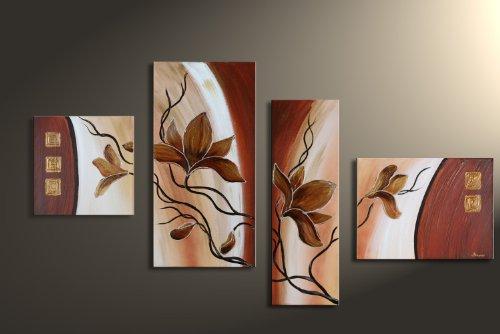 Barato magnolia m6 4 imagen cuadros en - Cuadros pintados a mano online ...
