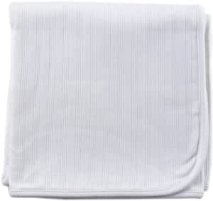 Hudson Baby Organic Receiving Blanket, White