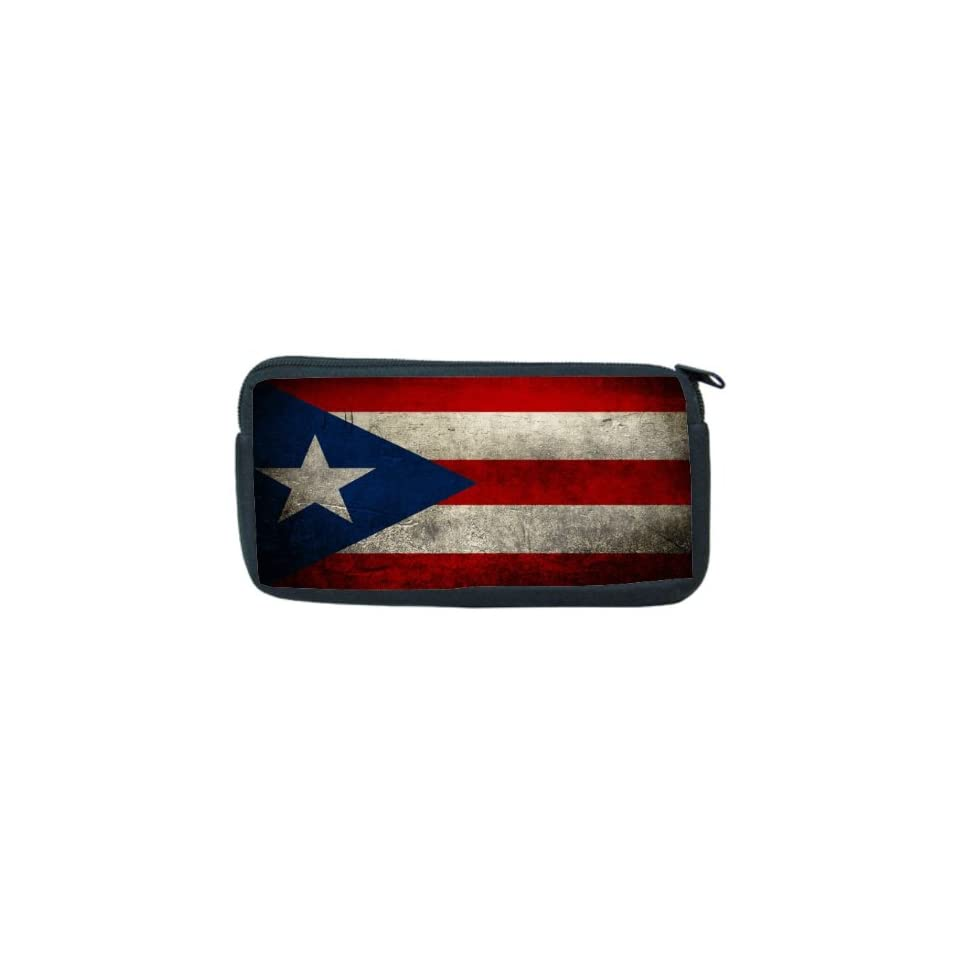 Puerto Rico Flag Neoprene Pencil Case   pencilcase   Ipod Case   PSP Case, Game Boy DS Case, etc   UNISEX   Ideal gift for all occassions