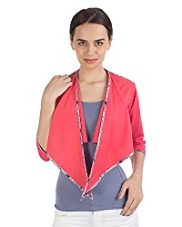 VeaKupia Women's Shawl Collar Shrug (12122_M, Pink, M)