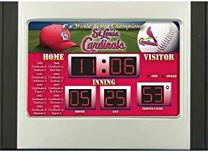 6.5x9 Scoreboard Desk Clock- St. Louis Cardinals by Team Sports America