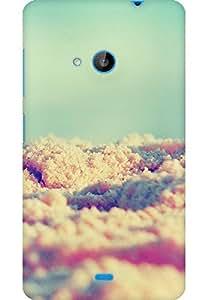 AMEZ designer printed 3d premium high quality back case cover for Microsoft Lumia 535 (clouds )
