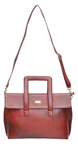 Red Leather Farm Smarty Handbag (Red)