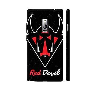 Colorpur Red Devil On Black Artwork On OnePlus 2 Cover (Designer Mobile Back Case) | Artist: Designer Chennai