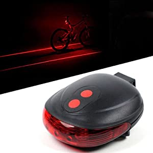 IDH 5 LED 2 Laser Beam MTB Mountain Bicycle Bike Cycle Rear Tail Warning Lamp Light