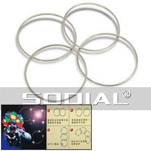 SODIAL(R) Mini anneaux Chinois Quatre anneaux magiques Nouvel anneau connectšŠ Kit de magie
