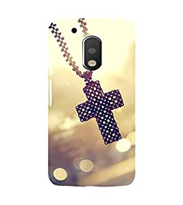 Printvisa Catholic Cross Pendant Back Case Cover for Motorola Moto G4::Motorola Moto G (4th Gen)